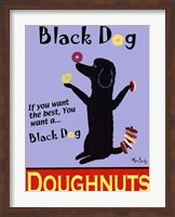 Framed Black Dog Doughnuts
