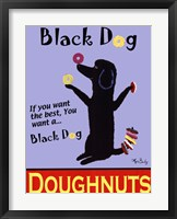 Framed Black Dog Doughnuts
