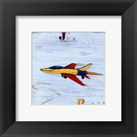 Framed Jet with Red Border
