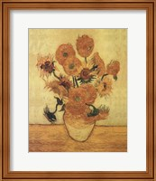Framed Sunflowers On Gold