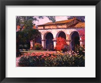 Framed Capistrano Mission Delight