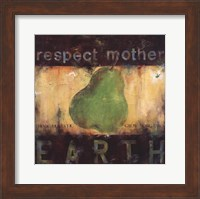 Framed Respect Mother Earth