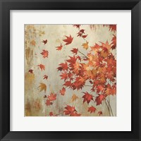 Framed Crimson Foliage