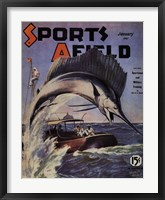 Framed Sports Afield - January, 1941