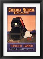 Framed Canadian National Railways