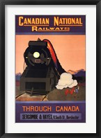 Framed Canadian National Railways