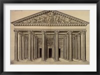 Framed Ordonnance d'un Portique, (The Vatican Collection)