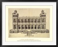 Framed Facade d'un Palais, (The Vatican Collection)
