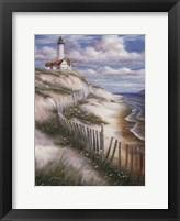 Framed Lighthouse with Deserted Beach