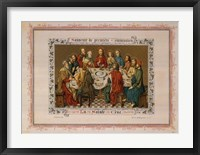 Framed Souvenir De Premiere Communion, (The Vatican Collection)