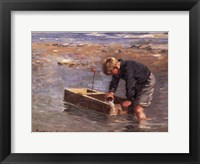 Framed Boy with boat