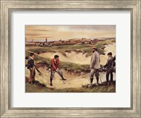 Framed Golf In the Sand Pit