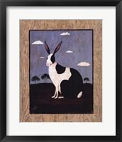 Framed Folk Bunny