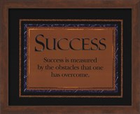 Framed Success quote