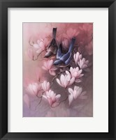 Framed Birds with Blossoms