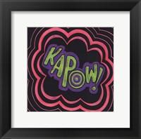 Kapow Framed Print