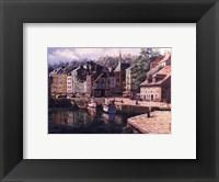 Framed Village Of Honfleur
