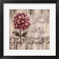 Find Peace Framed Print