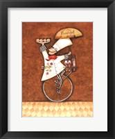 Framed Escargot Chef