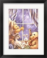 Framed Teddy Bear Stars