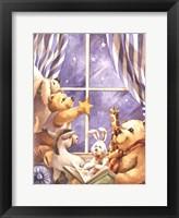 Framed Teddy Bear Stars