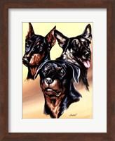 Framed Dog Collage I