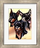 Framed Dog Collage I