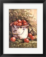 Framed Pail of Apples