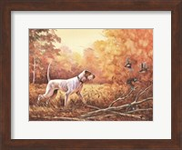 Framed Hunting Dog