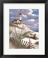 Framed Lighthouse with Deserted Canoe