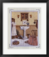 Her Bathroom Framed Print