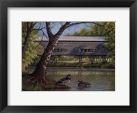 Framed Covered Bridge With Ducks