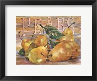 Framed Fruit Stand Pears