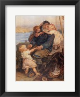 Framed Fisherman with Children