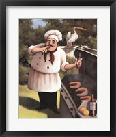 Framed Barbecue Chef Hot Sauce