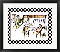 Chef with Entree Framed Print