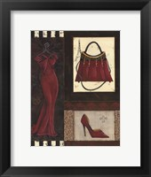 Framed Fashion Collage I - mini