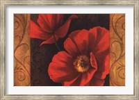 Framed Pavots Rouges II
