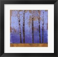 Framed Birch Trees I - mini