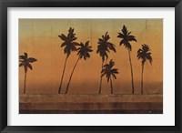Framed Sunset Palms I - CS