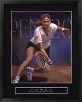 Framed Power - Tennis Player
