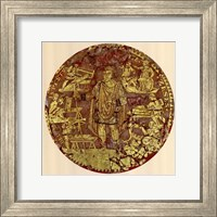 Framed Gold Figure, (The Vatican Collection)