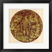 Gold Figure, (The Vatican Collection) Framed Print