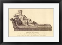 Reclining Lady (recto), The Vatican Collection Framed Print