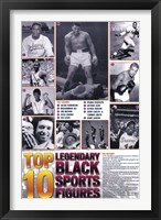 Framed Legendary Black Sports Figures