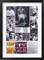 Framed Legendary Black Sports Figures