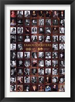 Framed Famous Writers
