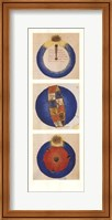 Framed Abstract Circles II, (The Vatican Collection)