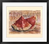 Fruit Stand Watermelon Framed Print