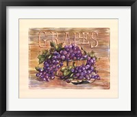 Framed Fruit Stand Grapes